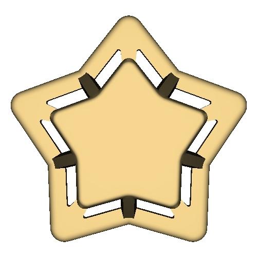 パソコンスターンド(Star x Stand).stl
