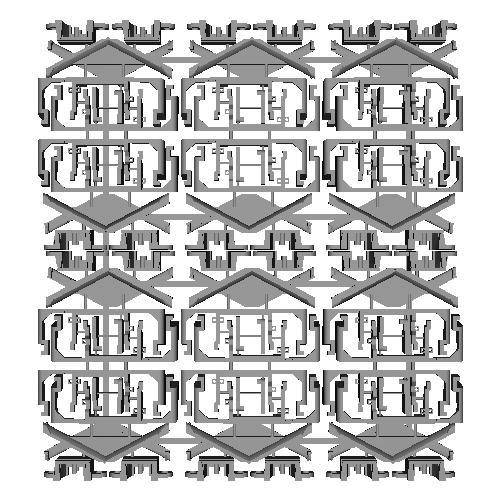 キハ40形スカート・胴受けパーツ(トラムウェイ用)6セット(12両分)