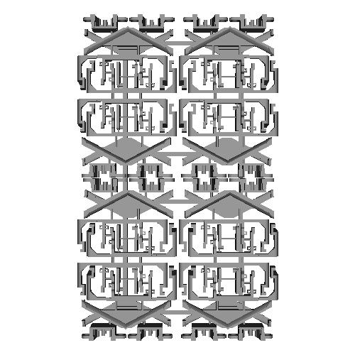 キハ40形スカート・胴受けパーツ(トラムウェイ用)4セット(8両分)