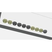 (新)ソフトリム スーパーロープロファイル トラックポイント用キャップ  10個