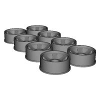 ミニッツ GLR ナローホイール オフセット 1or1.5mm選択式 4セット