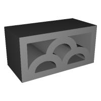 1/12コンクリートブロック 透かしブロック「みやま」