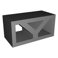 1/12コンクリートブロック 透かしブロック「Y」