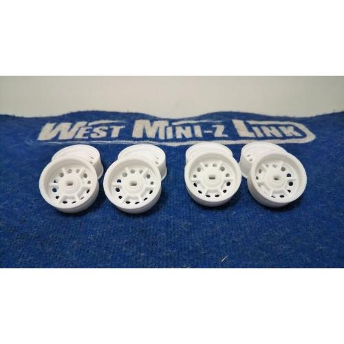ミニッツAWD・FWD用 ホイールセット ナロー幅 オフセット+1 鉄チンタイプ 8個