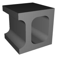 1/12コンクリートブロック 隅型ハーフ