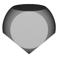 欠球型7面ダイス(無刻印)