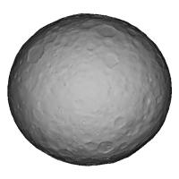 準惑星ケレスの2000万分の1の模型(中空化)