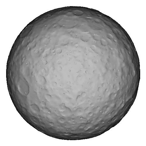 準惑星ケレスの2000万分の1の模型