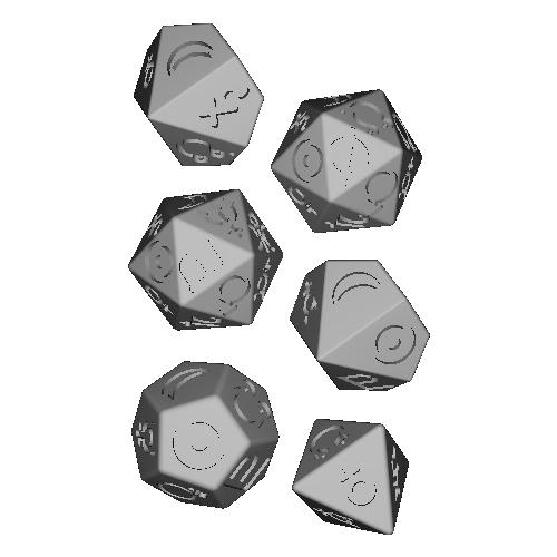 惑星ダイス(8面・10面・12面・20面)6個入り