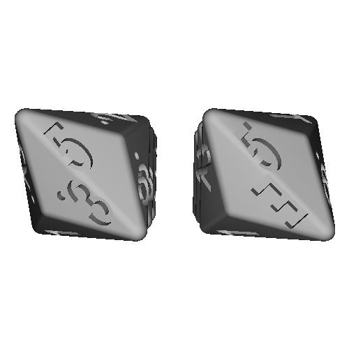 三方四面体ダイス(12面機能&6面機能)6個入り