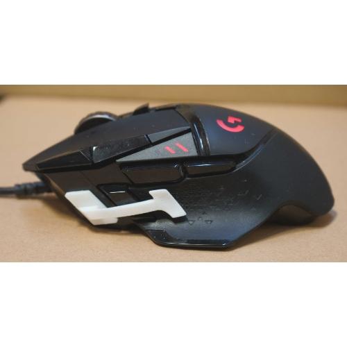 ロジクール(Logitech)G502マウスのサイドボタン(DPIシフト)の位置をずらすパーツ