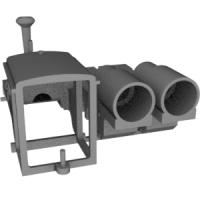 N(9mm) 準へっつい(サドルタンク)タイプ機関車 ボディ+シャーシ