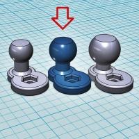 (汎用) ボールジョイント[ボール部側] 15Φ (オフセット10mm)