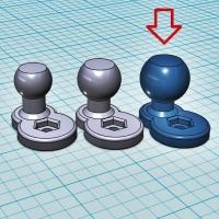 (汎用) ボールジョイント[ボール部側] 17Φ (オフセット10mm)