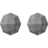 凧形二十四面体ダイス(12進法表記)4個入り