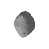 小惑星イトカワの1万分の1の模型(中空化)