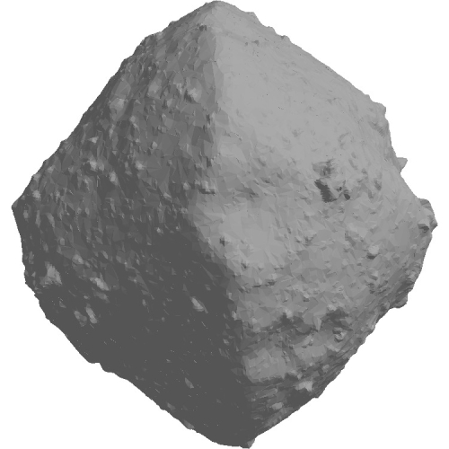 小惑星リュウグウの2万分の1の模型(中空化)
