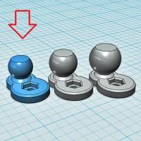 (汎用) ボールジョイント[ボール部側] 13Φ (オフセット10mm:短尺)