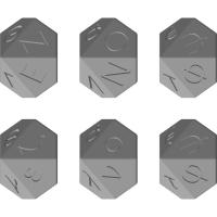 ギリシャ数字10面ダイス(3桁、大文字と小文字)