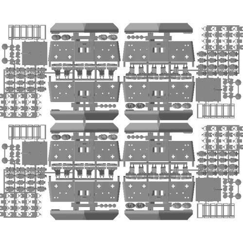 EF64-1000番台後期型スカートパーツセット HOサイズ 4両分