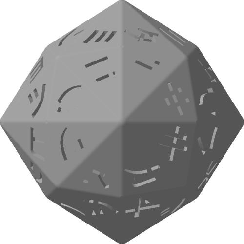六方八面体ダイス(いろは48文字:片仮名)