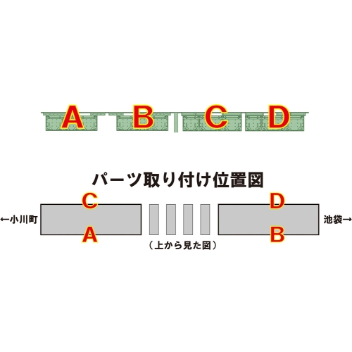TB98-21:統合型保安装置(10000系列タイプ)3編成分【武蔵模型工房 Nゲージ 鉄道模型