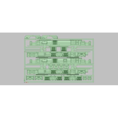 K-402 E233-3000(後期)床下セット(KATO用)