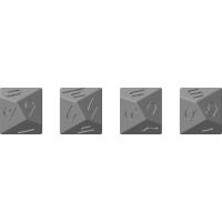 アルメニア数字10面ダイス(4桁、大文字と小文字)