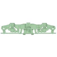 D-FS310-02:FS-310台車 5両分【武蔵模型工房 Nゲージ鉄道模型】