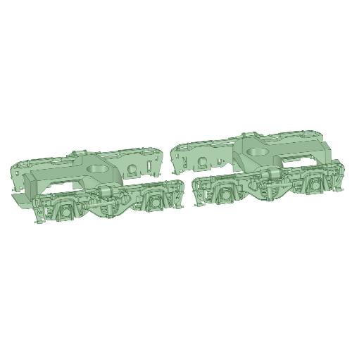 D-KS5-01:KS-5型台車 T・M各1両分【武蔵模型工房 Nゲージ鉄道模型】