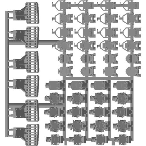 EF64 スカート付属品 ジャンパー栓・スカートステップ HOサイズ