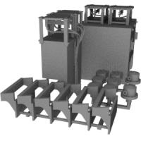 EF64 スカート付属品 ATS車上子・車軸発電機・ステップ HOサイズ
