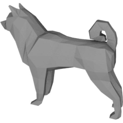 柴犬ポリゴンインテリア
