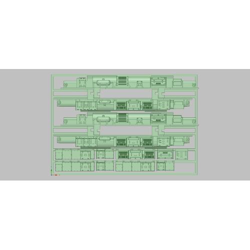 K-203 E231近郊形(前期)床下更新セット(KATO用15連分入)
