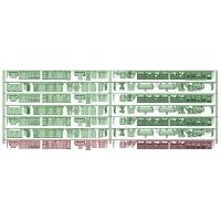 KQ11-61:旧1000形6連(抵抗器初期更新)床下機器【武蔵模型工房 Nゲージ 鉄道模型】