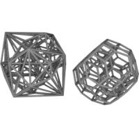 Omnitruncated 5-cellとその双対多胞体(正五角形型座標配置)