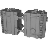 鉄道模型Nゲージ底床式大物車用積荷(変圧器)2個セット