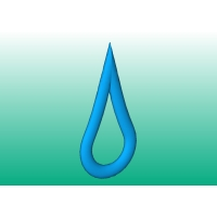 Water Drop型ペンダントトップ(紐なし)