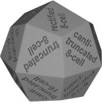 凧型二十四面体ダイス(半正多胞体の名称:正16胞体-正8胞体系)