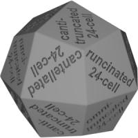 凧型二十四面体ダイス(半正多胞体の名称:正24胞体系)