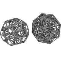 Bitruncated 24-cellと双対多胞体(正十二角形座標配置)