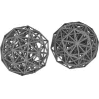正600胞体(二十・十二面体座標配置と正三十角形座標配置)