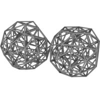 Snub 24-cell(二十・十二面体座標配置と菱形十二面体座標配置)