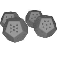 12面ダイス(12面機能と6面機能)