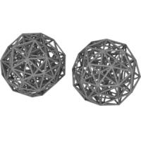 Grand antiprism(菱形十二面体座標配置と正二十角形座標配置)