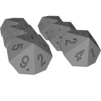 ジッヒャーマンの10面ダイス(0~18)