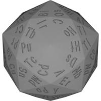 六方二十面体120面ダイス(元素記号)