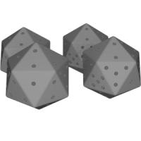 正二十面体ダイス(1~4と1~5)