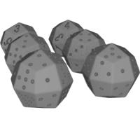 凧形二十四面体ダイス(1~4と1~6)