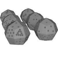 凧形二十四面体ダイス(1~8と1~12)